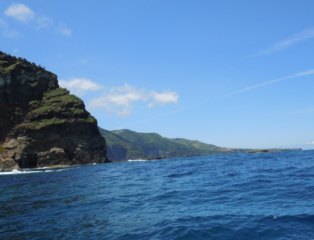 The east coast of Flores